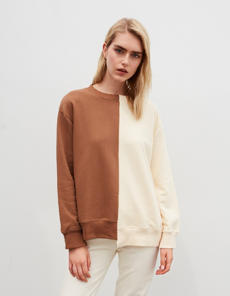 Beige Color Transition Sweatshirt