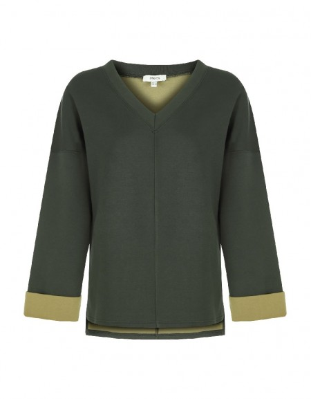 Green Scuba Fabric Sweatshirt