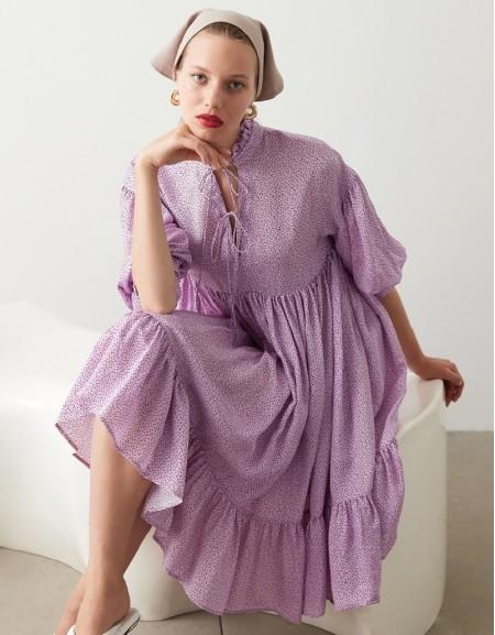 Violet Polka Dot Dress