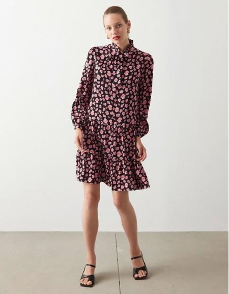 Pink Floral Pattern Dress