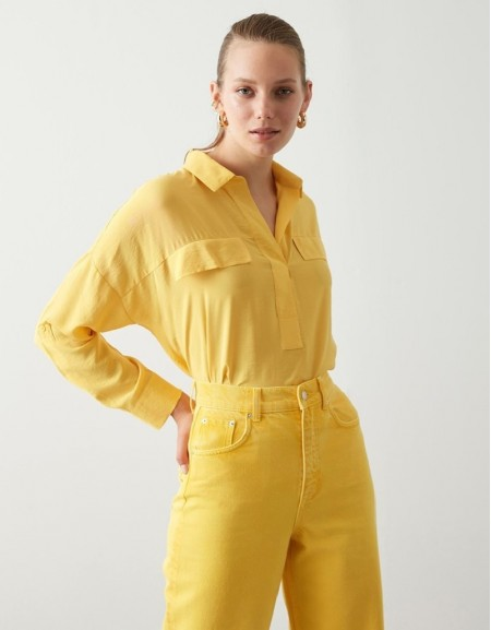 Yellow Basic Blouse