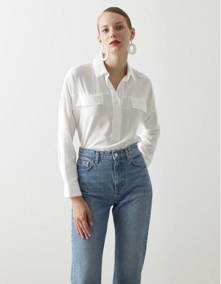 White Basic Blouse