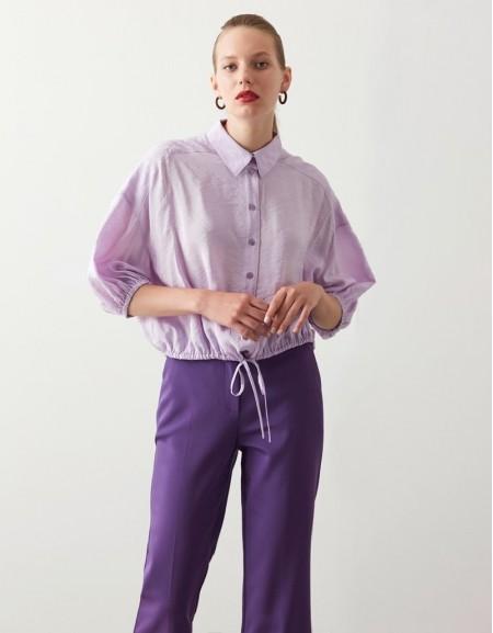 Violet Crop Shirt