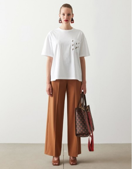 White Embroidered T-Shirt