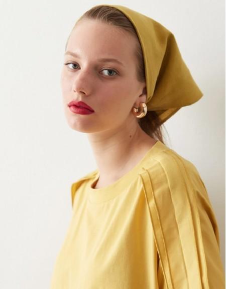 Yellow Cotton Fabric Mix T-Shirt