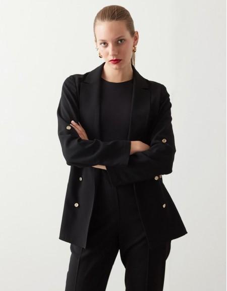 Black Casual Fit Blazer