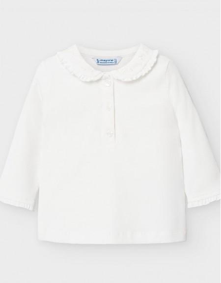Natural Long Sleeve Polo Basic