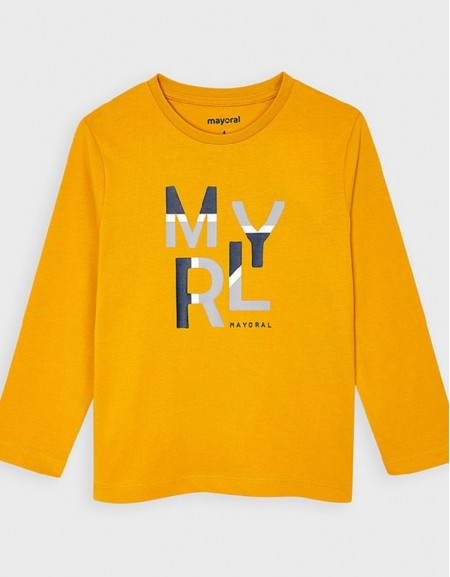 Wheat Long Sleeved Basic T-Shirt