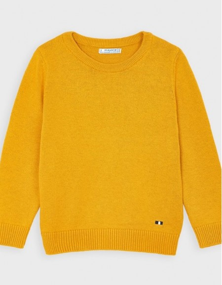 Wheat Round Neck Basic Jumper