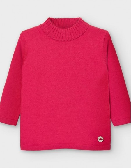 Coral Basic Knitting Mockneck Sweate