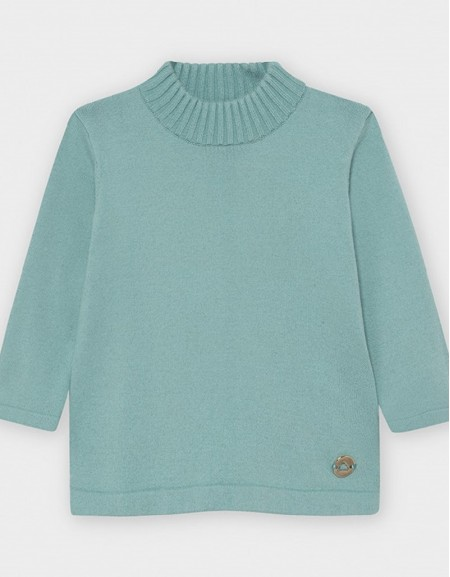 Jade Basic Knitting Mockneck Sweate