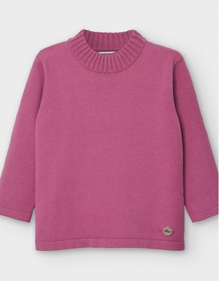 Azaleapink Basic Knitting Mockneck Sweate
