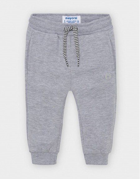 Smoke Basic Joggers With Elasticated Cuffs
