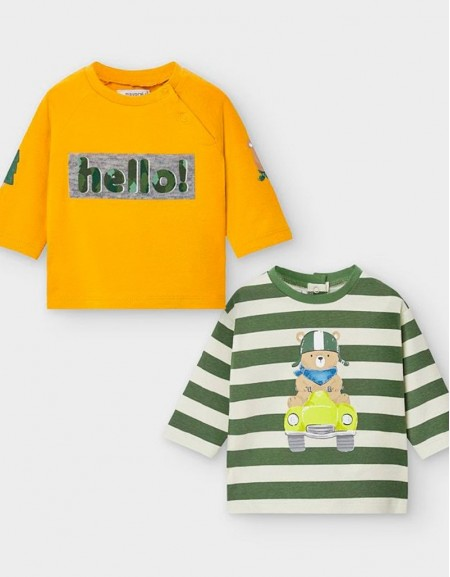 Moss Set Of Two Long Sleeved T-Shirts