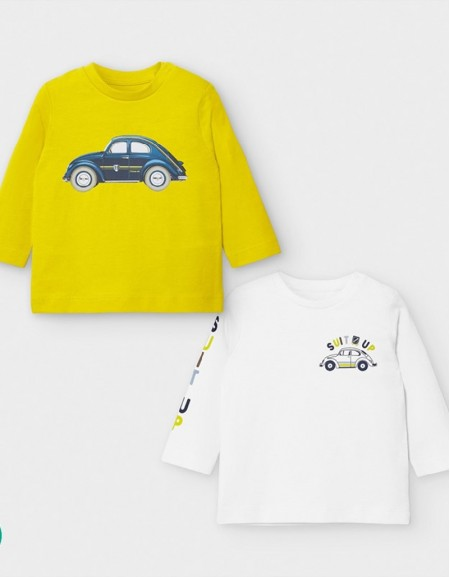 Aove Set Of Two Long Sleeved Car T-Shirts
