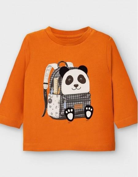 Cheddar Long Sleeved Panda Backpack T-Shirt