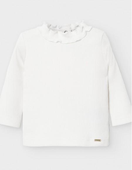 Natural High Neck Ribbed T-Shirt