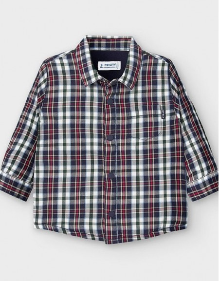 Blue Lined Over Shirt