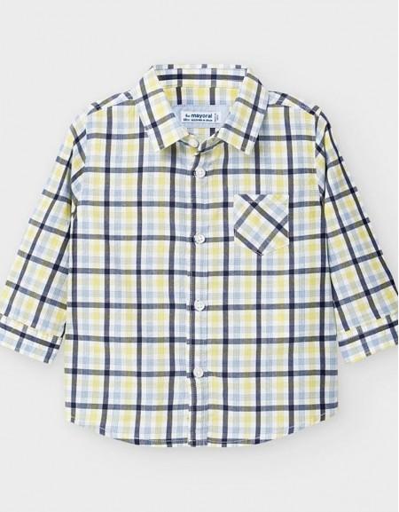 Aove Long Sleeved Poplin Checked Shirt