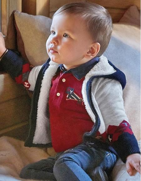 Bordeaux Rhombus Patterned Lined Knit Jacke
