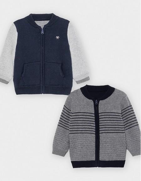 Graphite Reversible Knit Jacket