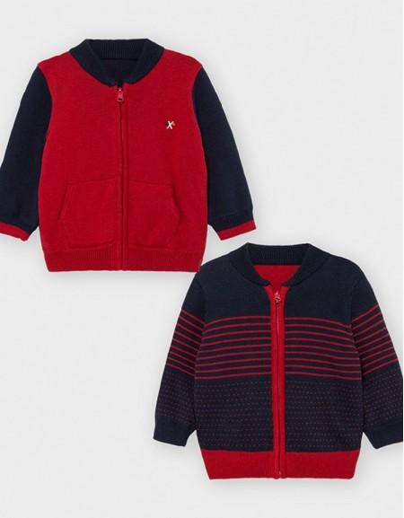 Bordeaux Reversible Knit Jacket