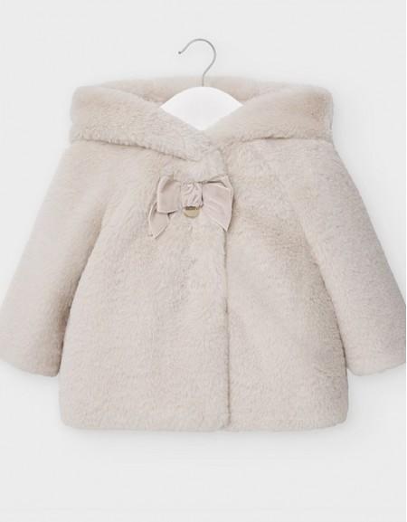 Beige Plush Coat
