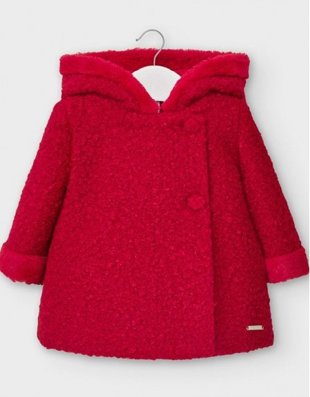 Red Fluffy Cloth Coat