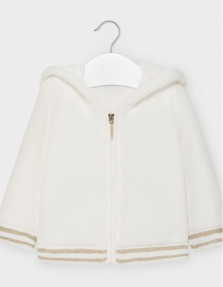 Natural Combined Faux Fur Sweatshirt