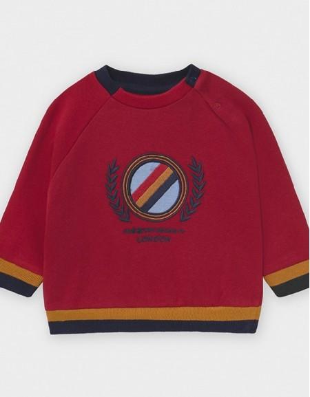Bordeaux Embroidered Sweatshirt