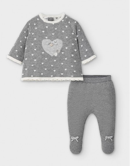 Moon Knit Footed Leggings Set
