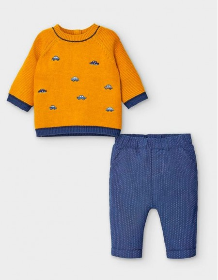 Orangy Fantasy Jumper And Trousers Set