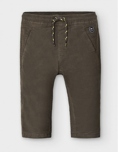 Chocolate Lined Micro Corduroy Trousers