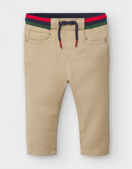 Sand Ribbed Waist Trousers