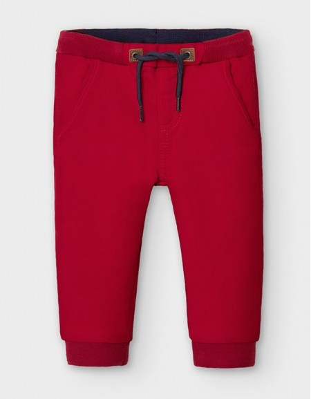 Red Soft Jogger Pant