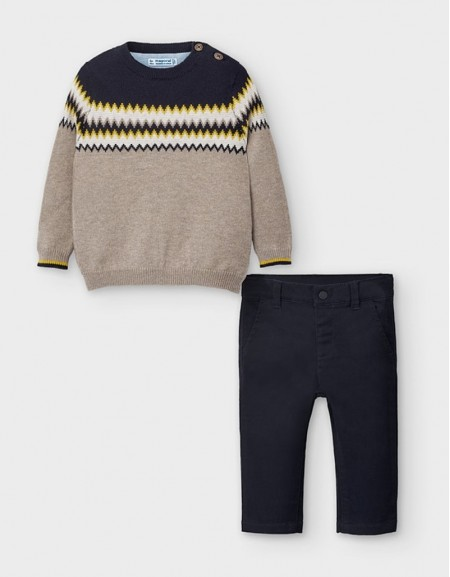 Navy Jumper And Trousers Set