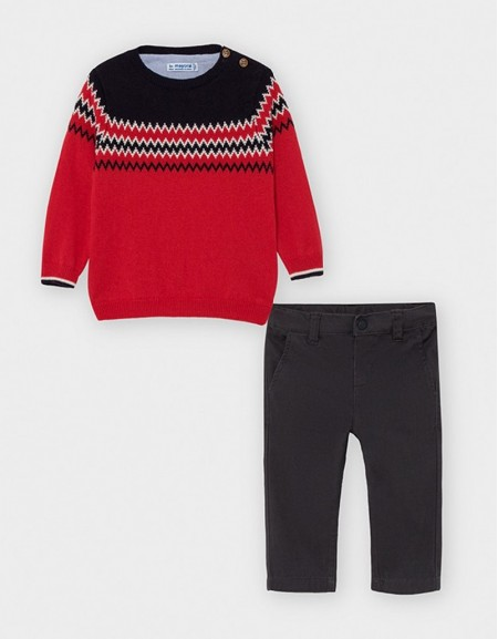 Charcoal Jumper And Trousers Set