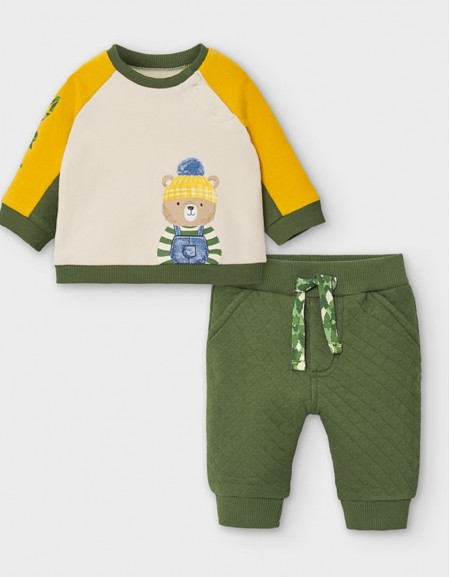 Moss Tracksuit With Print Design