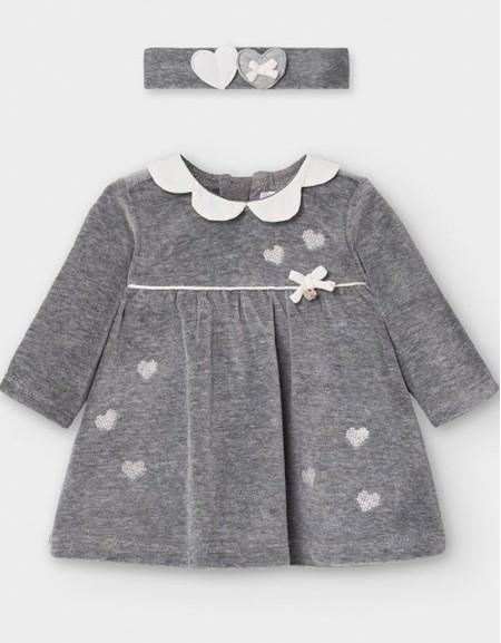 Moon Velour Dress And Headband