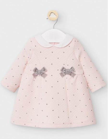 Baby Rose Padded Polka Dot Dress