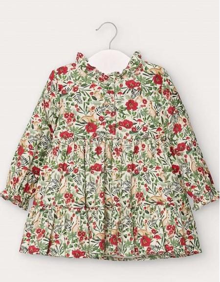 Green Patterned Viyella Dress