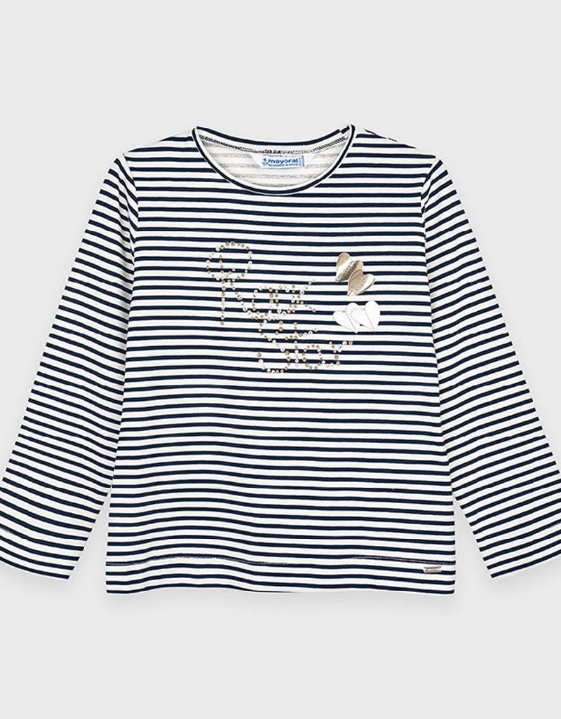 Black Long Sleeved Striped T-Shirt