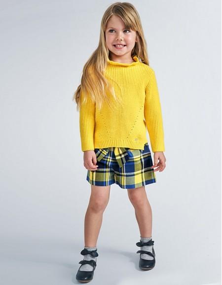 Yellow Plaid Bermuda Shorts
