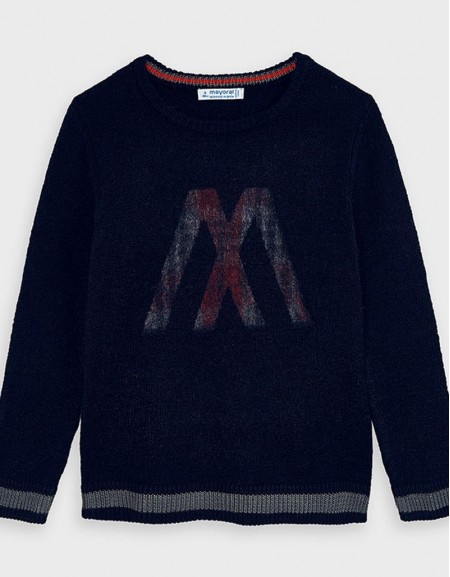 Navy Sweater Shadow Vigore