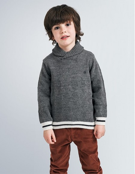 Fog Wraparound Collar Jumper