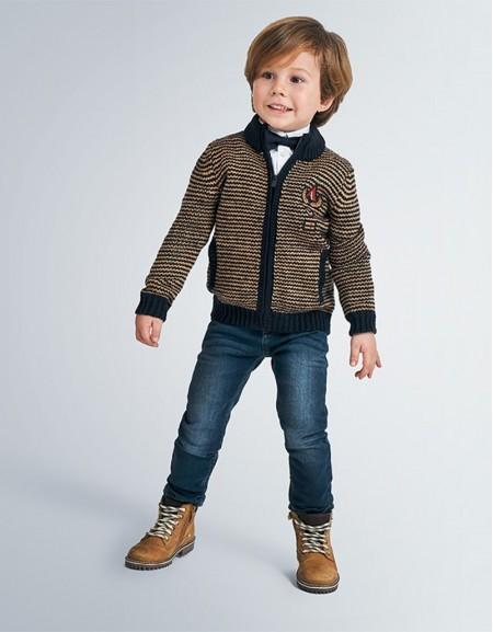 Almond Formal Knit Jacket