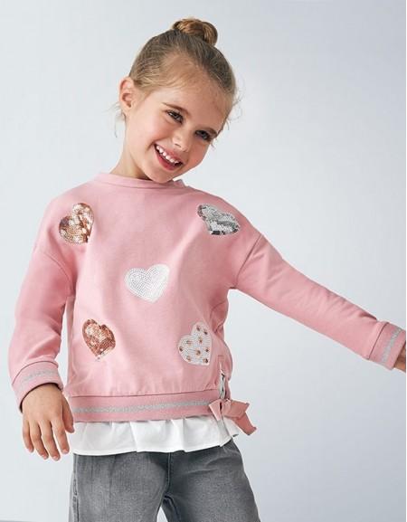 Blush Combined Sweatshirt Cherry