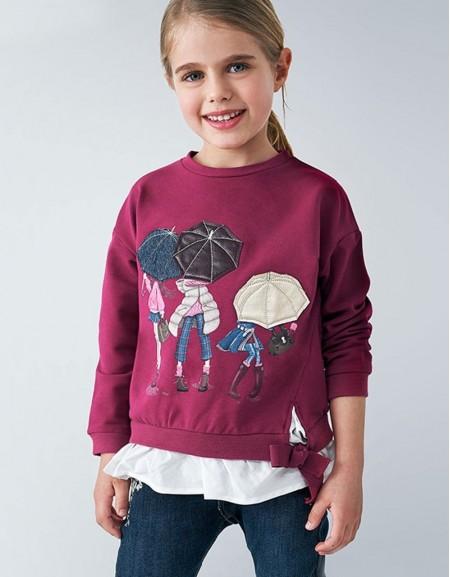 Cherry Combined Sweatshirt Cherry