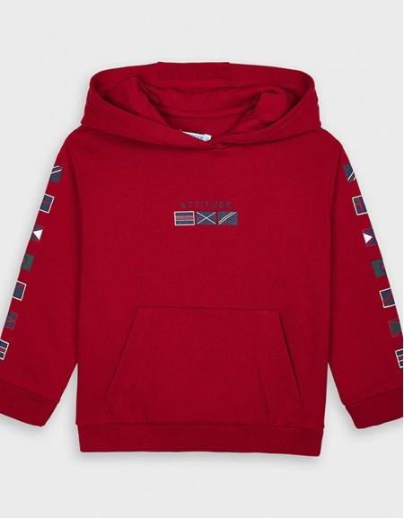 Cherry Flags Hoded Sweatshirt Biolima