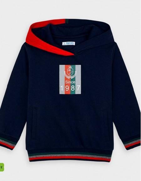 Navy Two Tone Hoded Sweatshirt Navy Blue